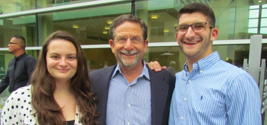 President's Award nominee Stuart Klein with his children, Maddy and Zack.