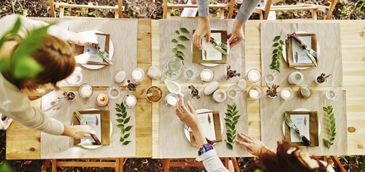 Rustic Dinner Table Setting for Sukkot