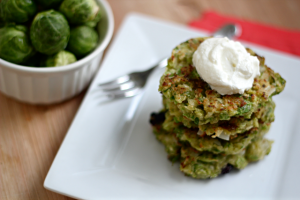 Brussels Sprouts Latkes ©What  Jew Wanna Eat