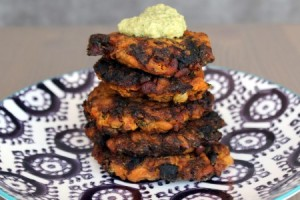 Turkish Carrot, Apricot, and Pine Nut Latkes (Havuc Koftesi)  ©Mezze & Dolce
