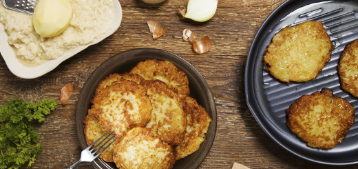 Delicious homemade potato pancakes.