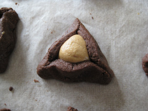 Chocolate Peanut Butter Hamantaschen