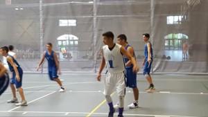 Jordan (in white jersey) during a game
