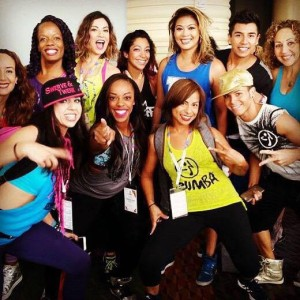 A Zumba crew together