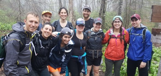 Tzachi Flat (left) and other JOFEE Fellows on a nature trip.
