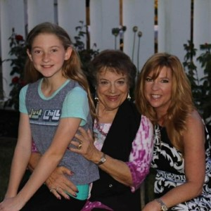 Stephanie (on right) with her daughter and mother (left and center).