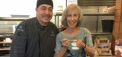 Judith S. (right) and Chef Roberto at Nourish Cafe