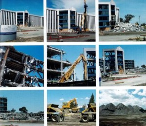 Demolition of the SUN Microsystems building in 2007.