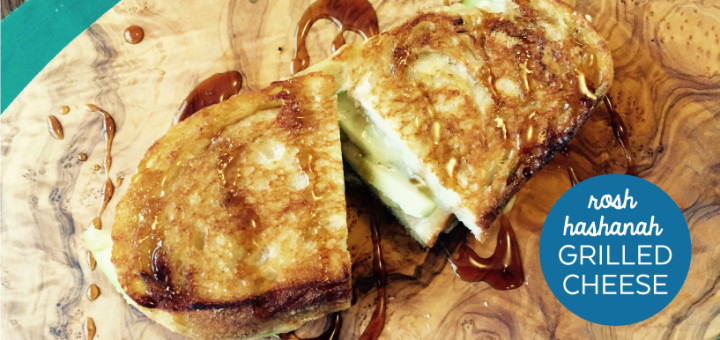 Apples and Honey Grilled Cheese for Rosh Hashanah