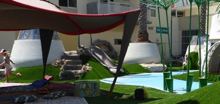 A view of the OFJCC Oasis Play Space