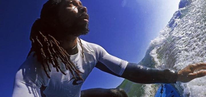 James Ward shredding the waves.