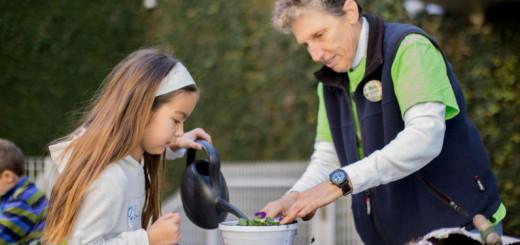 Garden Pedagogista Debbie Togliatti and Rebecca