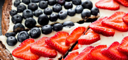Red White and Blue Brownie Pizza from Jo Cooks, jocooks.com
