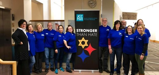 The JResponse team with JCC of Greater Pittsburgh staff. Photo courtesy Stephanie Levin.